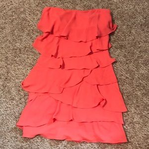 BCBG Maxazria ruffle dress